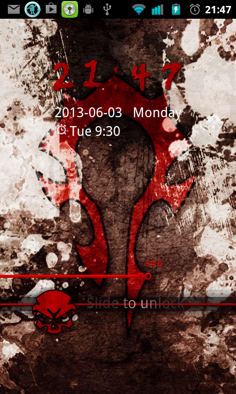 WoW Horde Go Locker Theme - screenshot