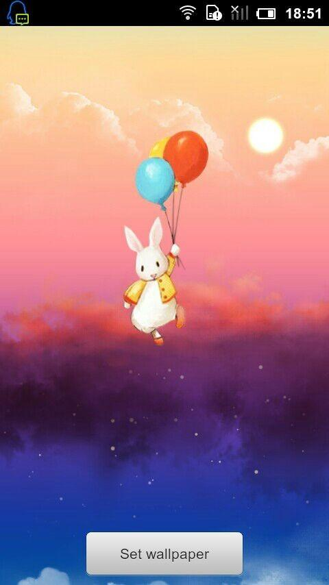 Lucky bunny live wallpaper - screenshot