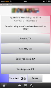 US History Quiz - screenshot thumbnail