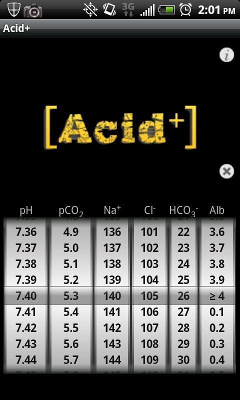 Acid Plus - The ABG Calculator- screenshot
