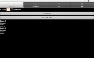 Screenshot of UF Team Picker