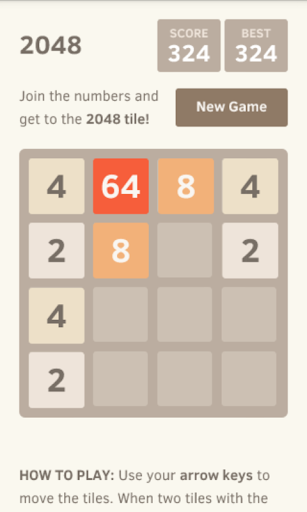 2048 - top number puzzle game