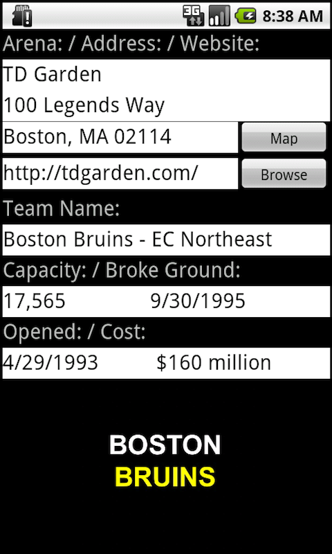 Pro Hockey Arenas Teams screenshot #4