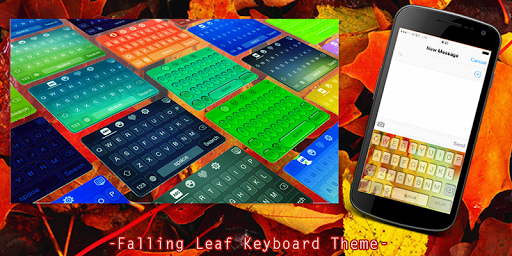 Falling Leaf Keyboard Theme