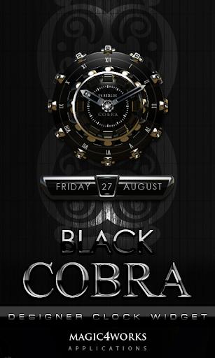 Cobra designer Clock Widget