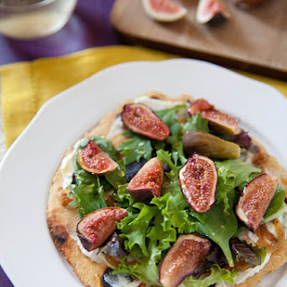Roasted Fig Flatbreads with Chèvre and Greens