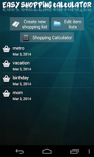 Easy Shopping Calculator- screenshot thumbnail