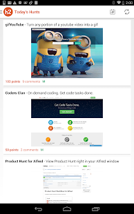 hunter2 - Product Hunt Client- screenshot thumbnail
