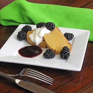 Lemon Buccellato with Blackberry Sauce & Vin Santo.