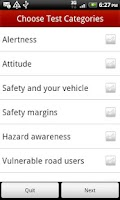 Screenshot of UK Car Theory Test