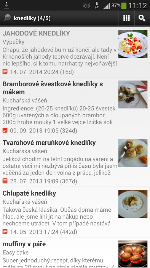 Food-blogs cz - screenshot
