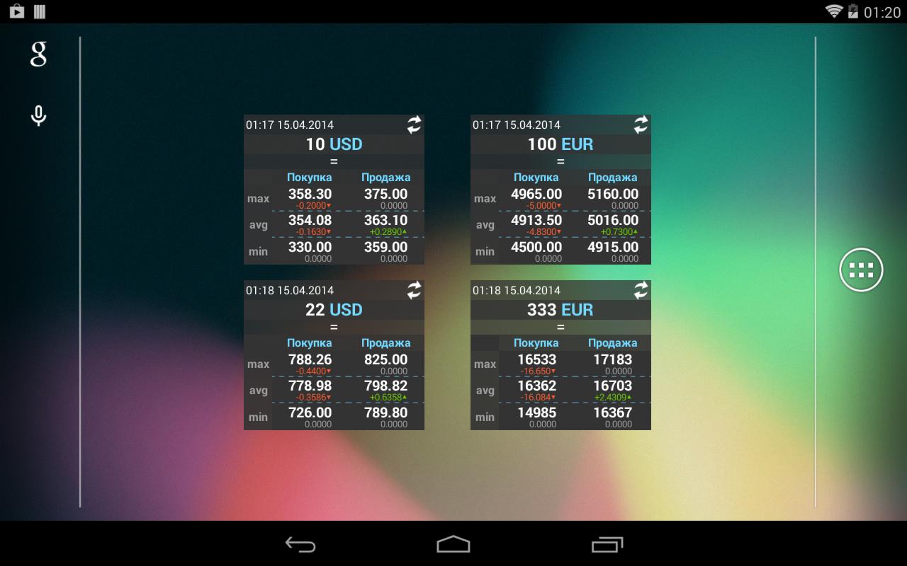 Скачать на андроиду курсы валют