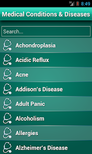 Diseases Dictionary ✪ Medical screenshot for Android