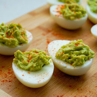 Guacamole Stuffed Eggs