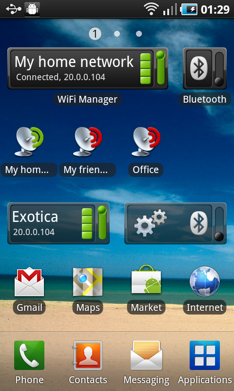 WiFi Manager: captura de pantalla
