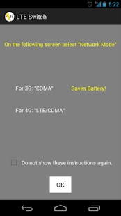 LTE Switch - Battery Saver- screenshot thumbnail