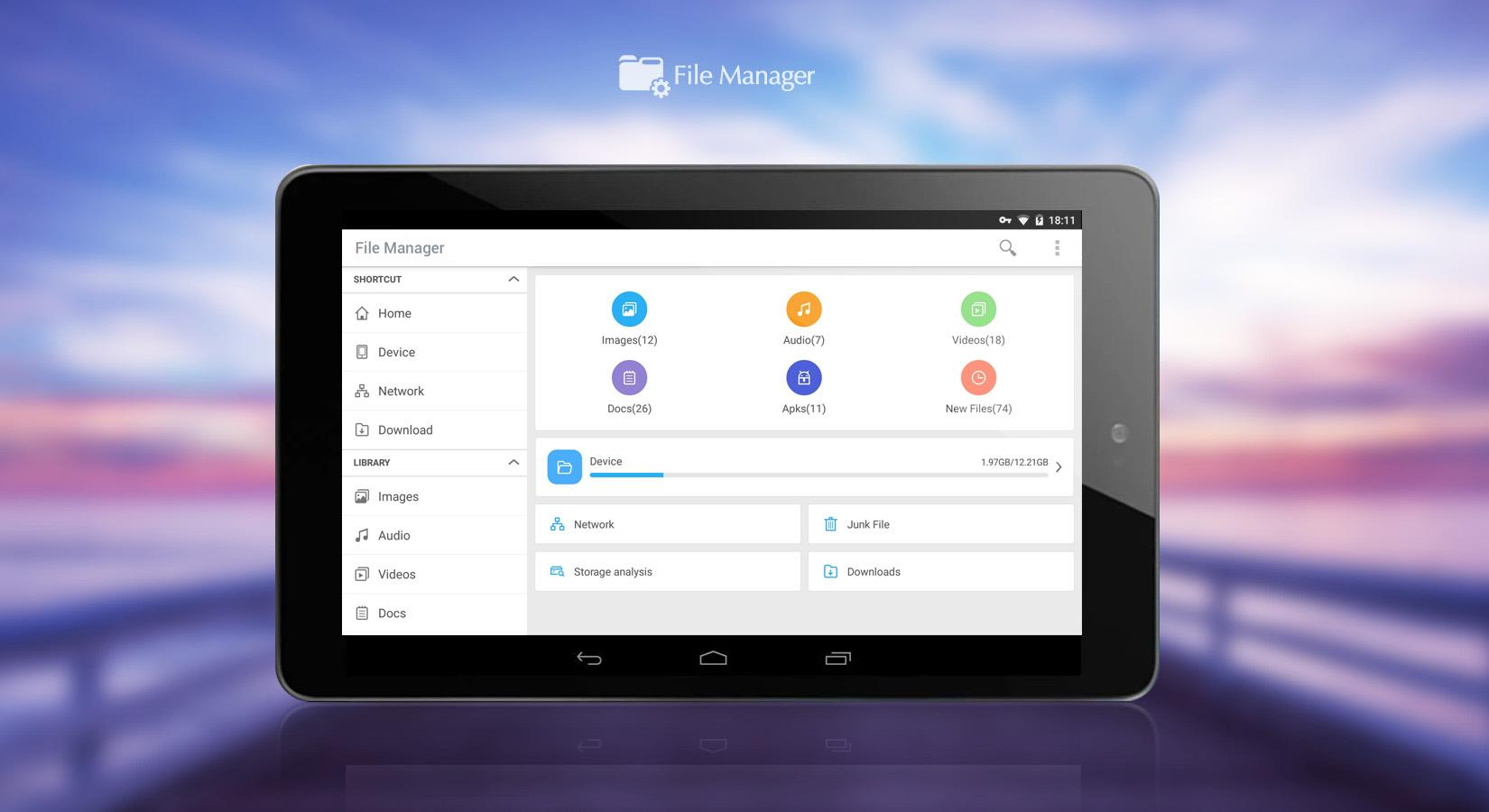 File Manager (File transfer)- screenshot