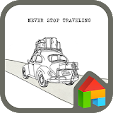 How to download never stop travel dodol theme