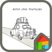 never stop travel dodol theme