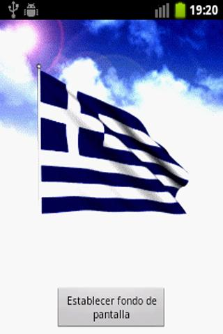 Greece Flag Live Wallpaper - screenshot