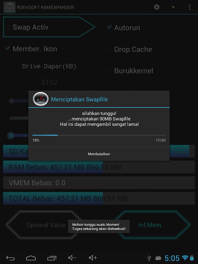 ROEHSOFT RAM Expander (SWAP) - screenshot