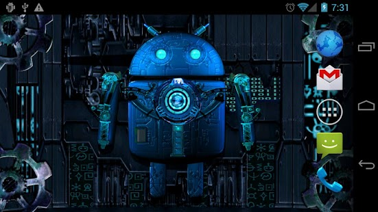 Steampunk Droid Live Wallpaper - screenshot thumbnail
