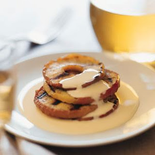 Grilled Apples with Bourbon Crème Anglaise