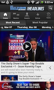 The Daily Show Headlines - screenshot thumbnail