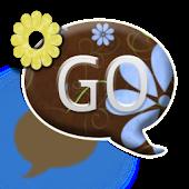 GO SMS THEME/BlueYellowFlowers