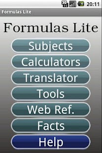 Formulas Lite - screenshot thumbnail