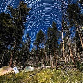 Nothing beats going to bed under the stars after setting up camp. by Ibrahim Cetindemir - Landscapes Starscapes