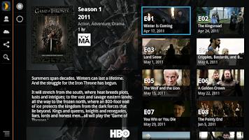 Screenshot of Plex for Google TV