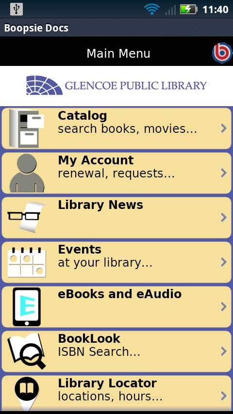 Glencoe Public Library - screenshot