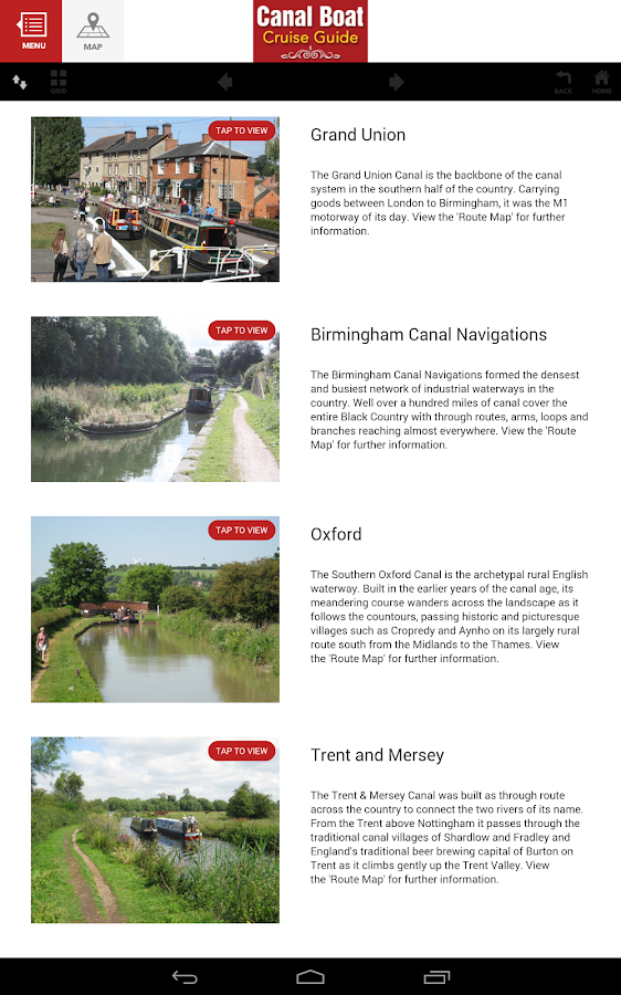 Canal Boat Cruise Guide- screenshot