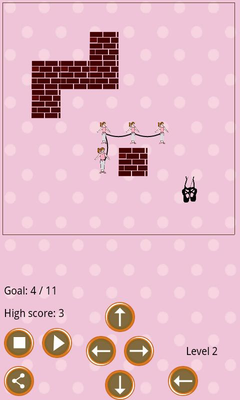 Ballerina Snake Race - screenshot